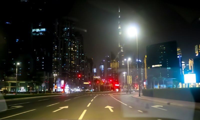 The busiest street in a normal day looks empty due to lockdown