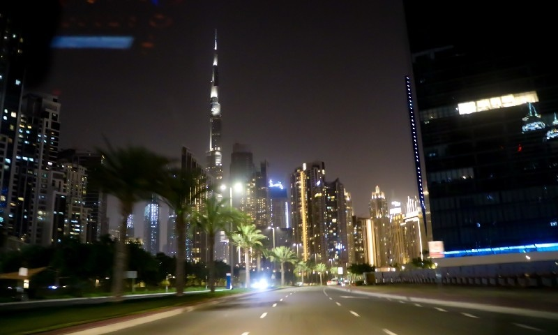 A night in Dubai breathing down the lockdown