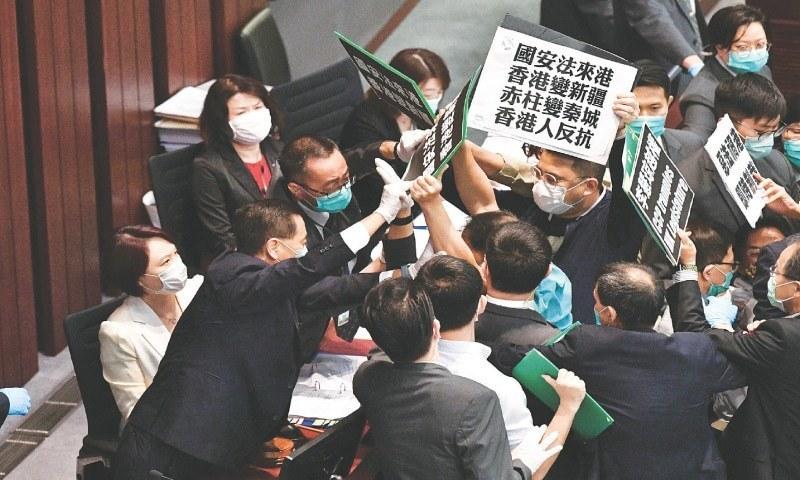 مذکورہ قانون کو ہانگ کانگ کے آئین کے شامل کردیا جائےگا—فائل فوٹو: رائٹرز