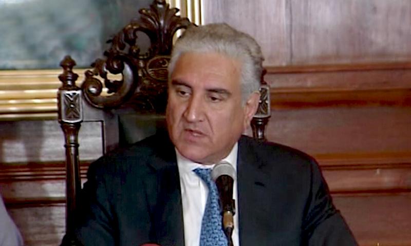 وزیر خارجہ شاہ محمود قریشی نے کہا کہ بھارت پاکستان کے صوبہ بلوچستان میں مسلسل مداخلت کر رہا ہے— فائل فوٹو: ڈان نیوز