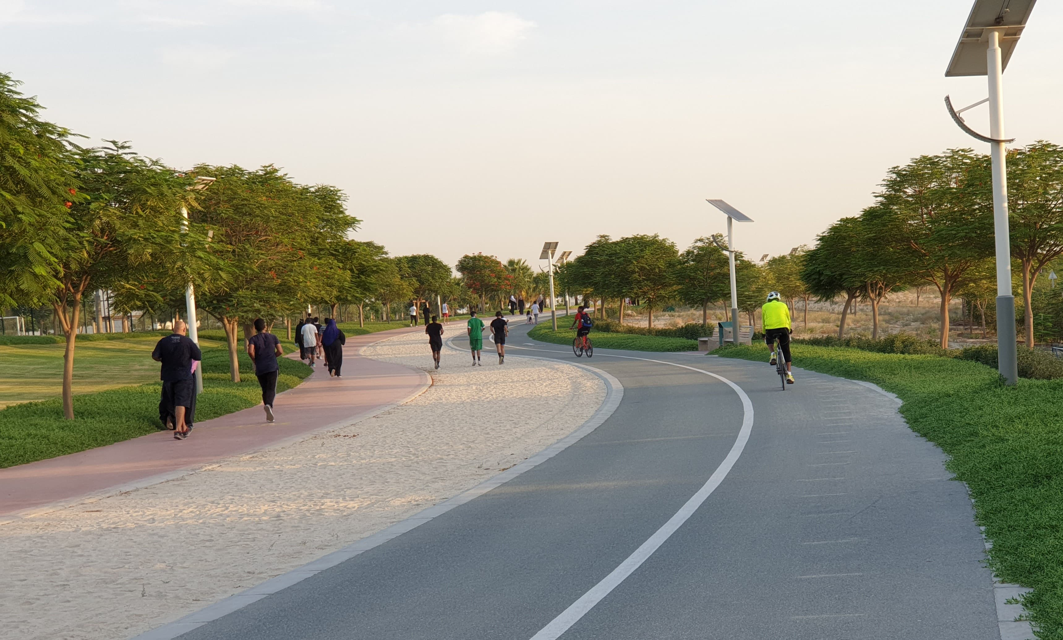 Surprisingly, the number of people walking and cycling around the parks and on the streets had doubled compared to normal days.