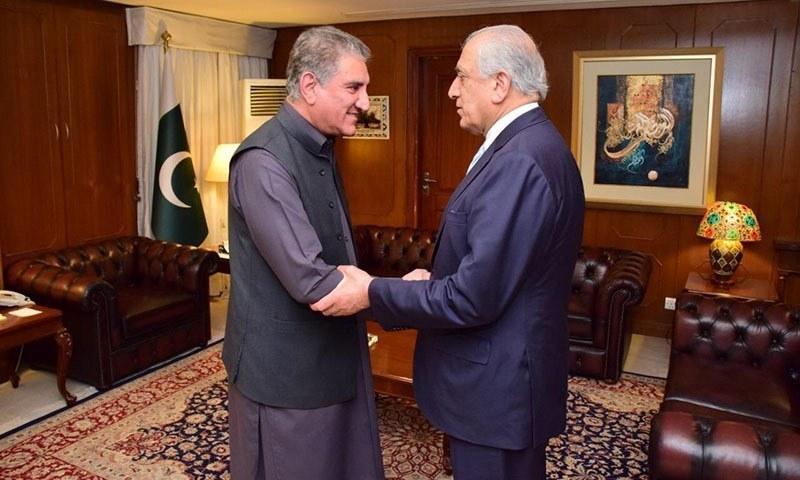 زلمے خلیل زاد اپنے وفد کے ہمراہ 3 روزہ دورے پر تاشقند سے پاکستان پہنچے تھے —فائل فوٹو: پی آئی ڈی