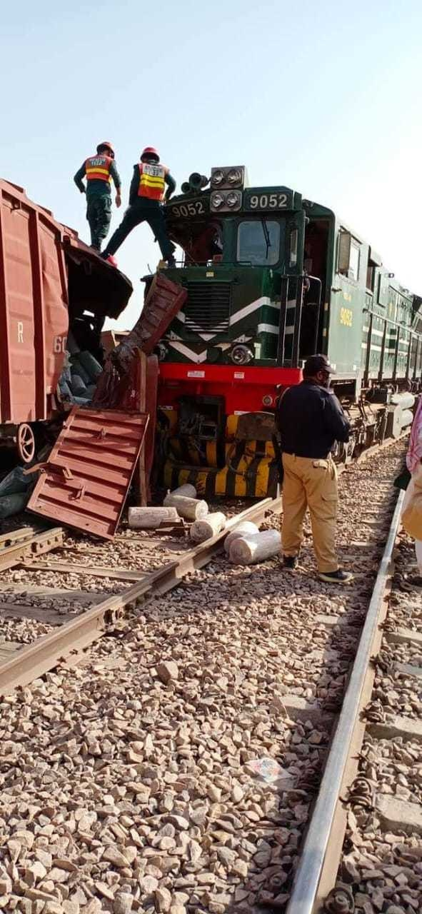A view of the train accident.