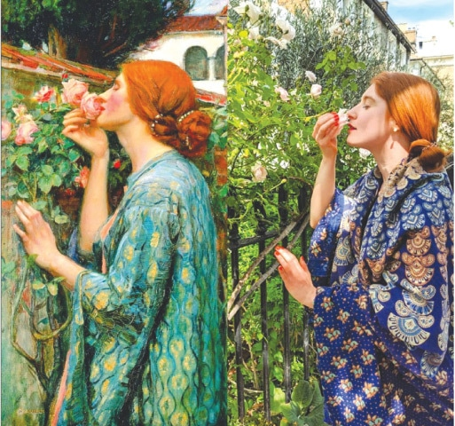 Recreation of J W Waterhouse's, 'The Soul Of The Rose', from the Getty Museum's online collection, while in quarantine #betweenartandquarantine Royal Academy Images
