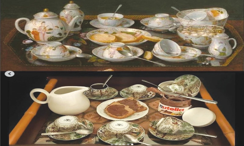 Recreation of Vincent van Gogh's 'Irises' with objects found at home, inspired by the Getty Museum's online collection #betweenartandquarantine