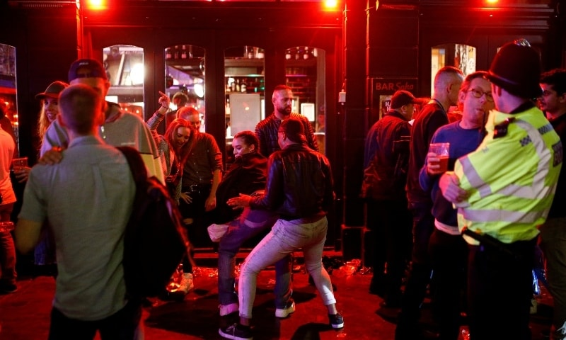 'Crystal clear' that drunk people can't socially distance -- United Kingdom police officer