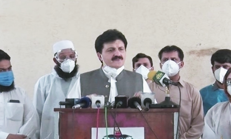 Mr Wazir said his visit was also aimed to personally review the arrangements regarding measures to control spread of coronavirus and termed them satisfactory. — DawnNewsTV