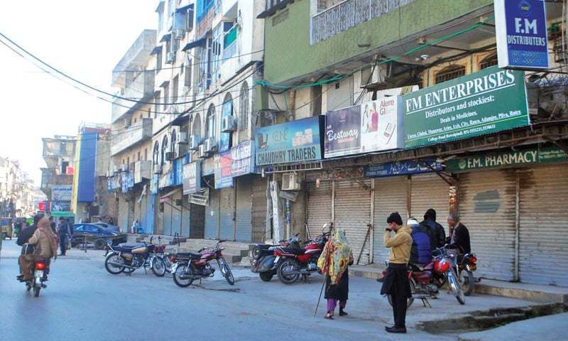 Positive cases were reported in Dhoke Khabba, Gulistan Colony, Range Road Lane No 4, official says. — APP/File