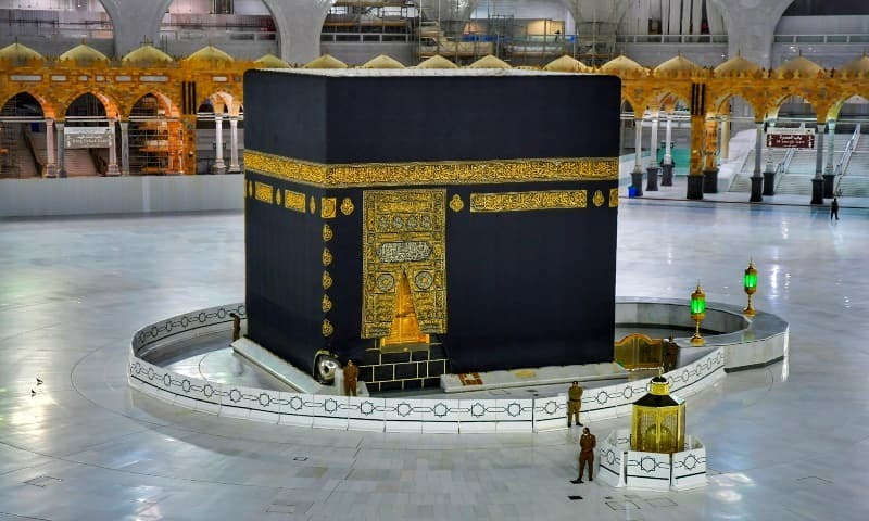 Touching the holy Kaaba will be banned during Haj this year. — Reuters/File