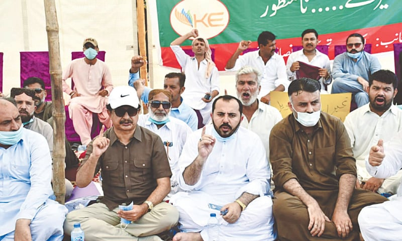 PTI leaders, lawmakers launch protest drive against 'atrocities' of KE