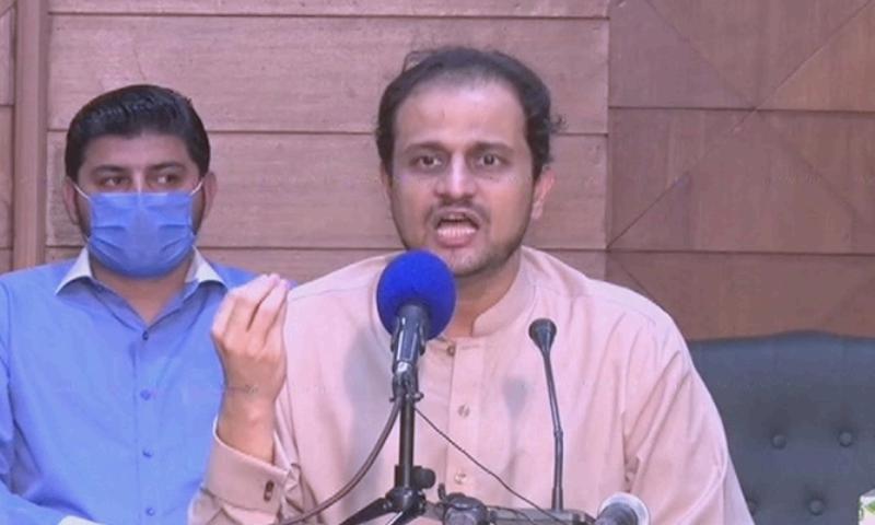 ان کا کہنا تھا کہ علی زیدی نے تاحال کاغذات کی فراہمی سے متعلق کسی سوال کا جواب نہیں دیا — فوٹو: ڈان نیوز