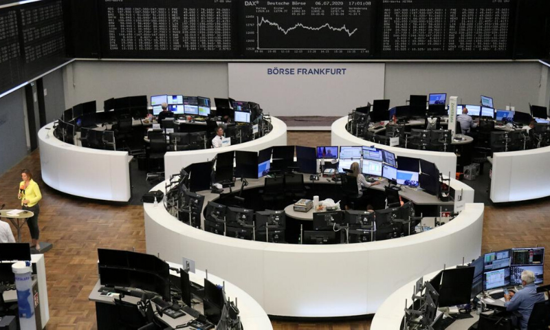 Equity bourses in London, Paris and Frankfurt fell one per cent or more, while stocks fell far less on Wall Street, with the Nasdaq trading flat to slightly higher. — Reuters/File