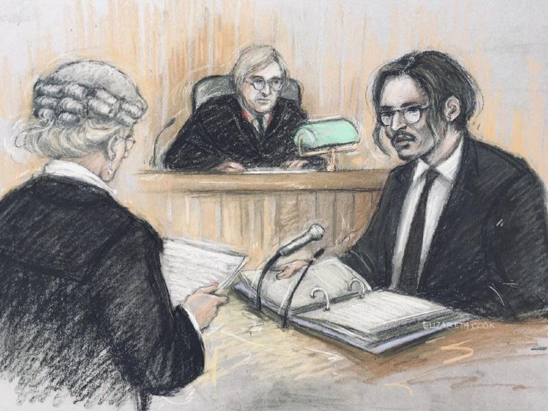 جونی ڈیپ نے عدالت میں تحریری بیان بھی جمع کروادیا—فوٹو: اے پی