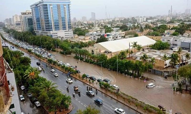 کراچی میں بارش کے باعث موسم خوشگوار ہوگیا—فائل فوٹو: ٹوئٹر
