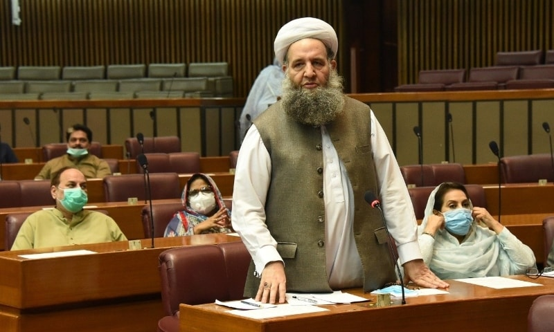 Minister of Religious Affairs Noorul Haq Qadri  said there has been a lot of talk on the issue. — Photo courtesy Radio Pakistan