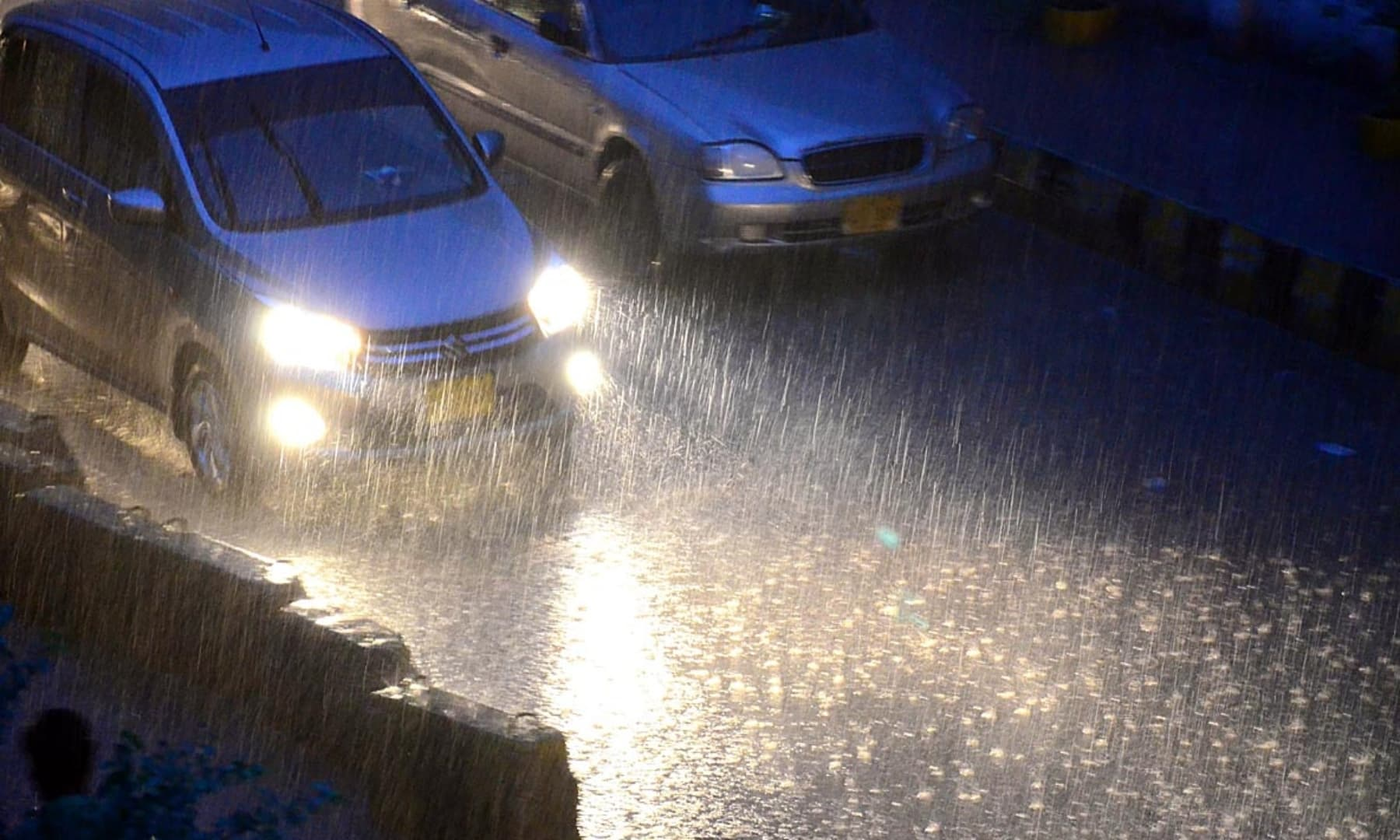 A view of heavy rain in Hyderabad on July 8. — APP