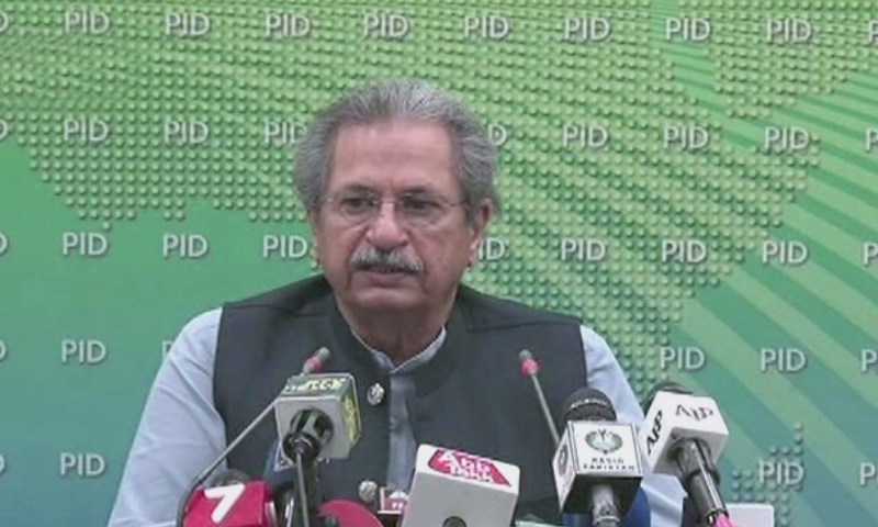 If the health crisis persists, schools and universities will not be opened, the federal Education Minister Shafqat Mahmood says. — DawnNewsTV