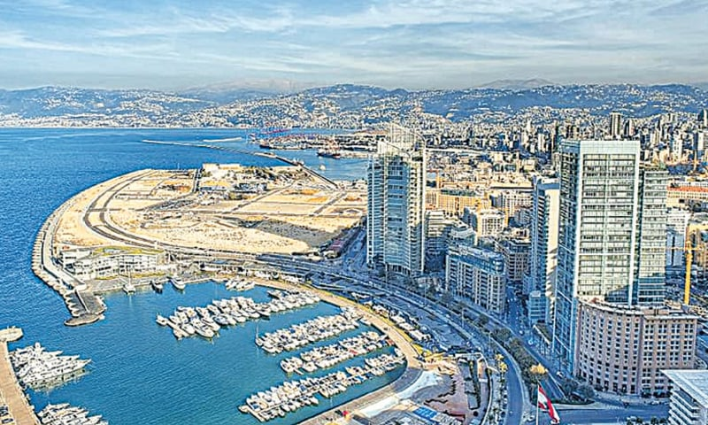 AN aerial view of Beirut is seen in this file photo.