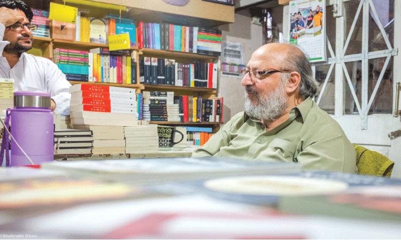 Mansoor Bukhari in his bookshop in Quetta |  Courtesy Zaeem Bukhari