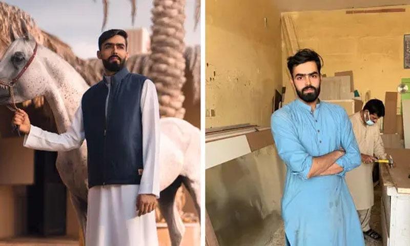 مزدوری کے لیے سعودی عرب جانے والا پاکستانی نوجوان فیشن ماڈل بن گیا