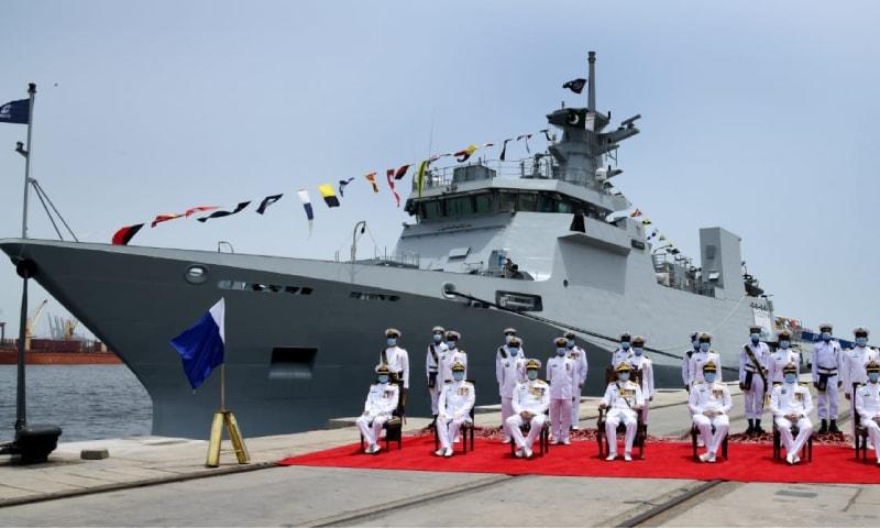 پاک بحریہ کے بیڑے میں جدید جہاز 'پی این ایس یرموک' کی شمولیت