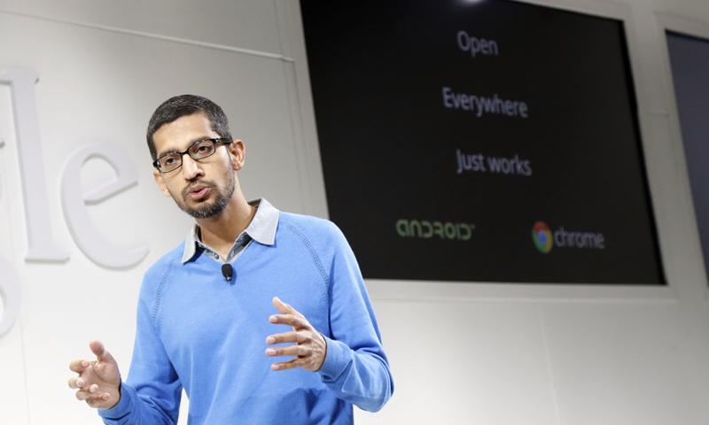 گوگل کا بھارت میں 10 ارب ڈالر کی سرمایہ کاری کا اعلان
