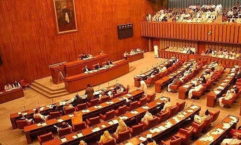 Opposition in Senate takes on minister for talking about presidential system. — APP/File