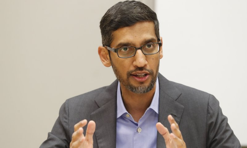 Sundar Pichai, CEO of Alphabet Inc's Google, also announced that the company will invest $1 million to support digital education in India. — AP/File