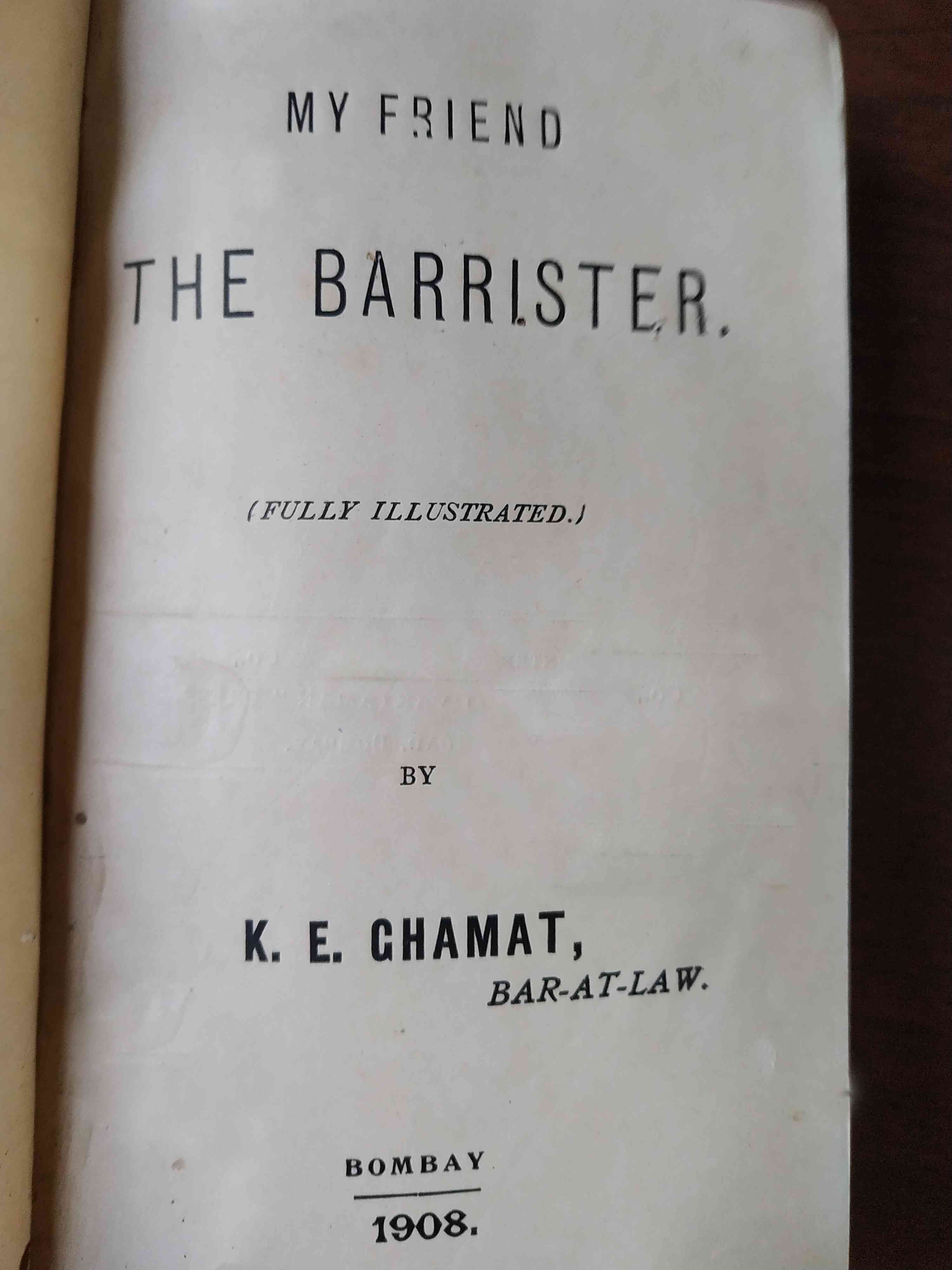 The title page of 'My Friend, The Barrister'. — Scroll.in