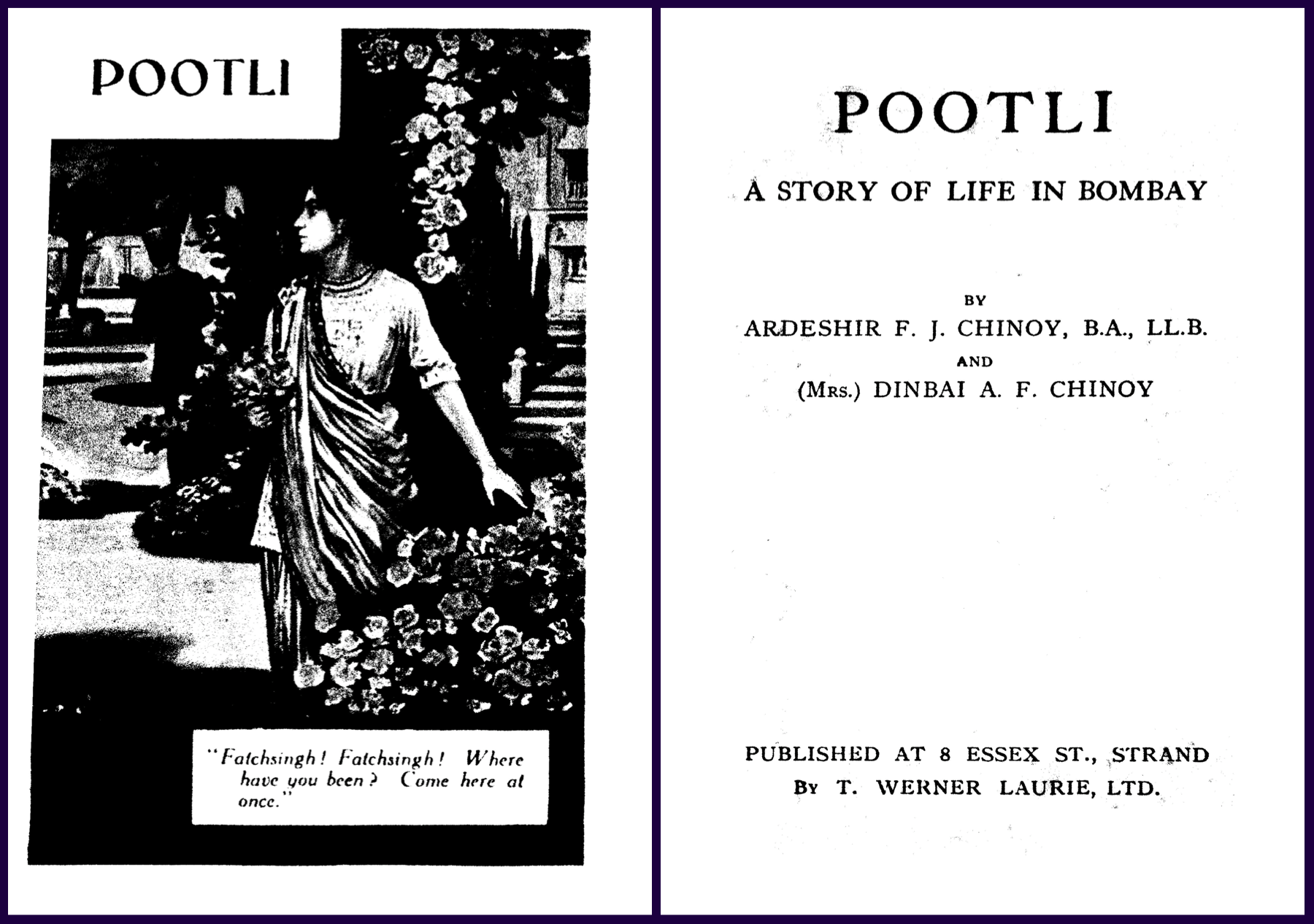 Pages from 'Pootli, A Story of Life in Bombay. — Scroll.in