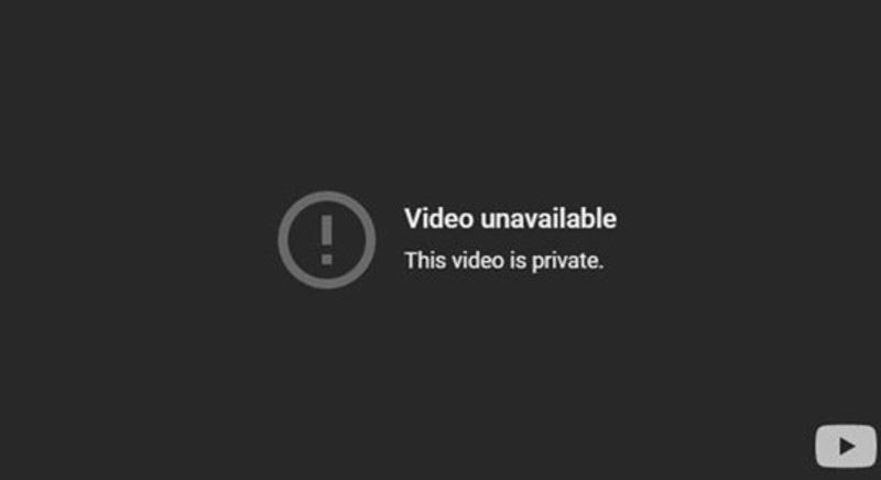 کشمیری سیویتاس کے چینل سے بھی ویڈیو ہٹادی گئی—اسکرین شاٹ