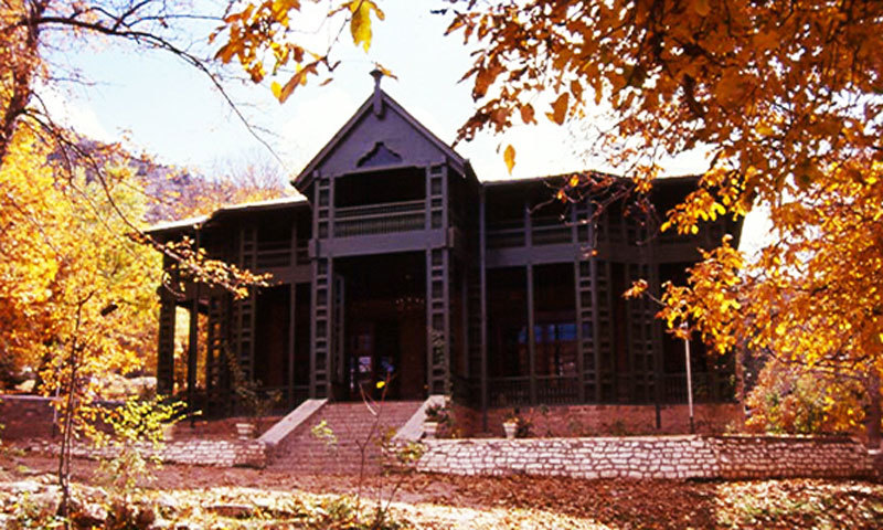 Ziarat Residency was bombed by miscreants a few years ago. — Dawn/File