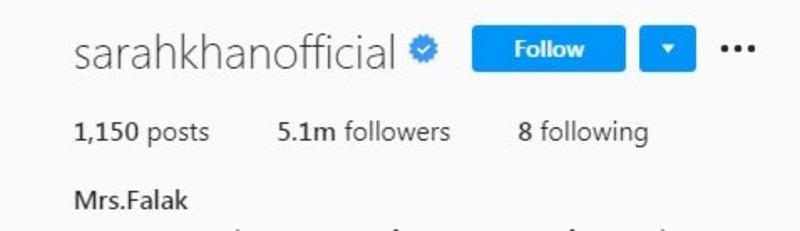 اداکارہ نے انسٹاگرام پر اپنا نام بھی تبدیل کردیا—اسکرین شاٹ
