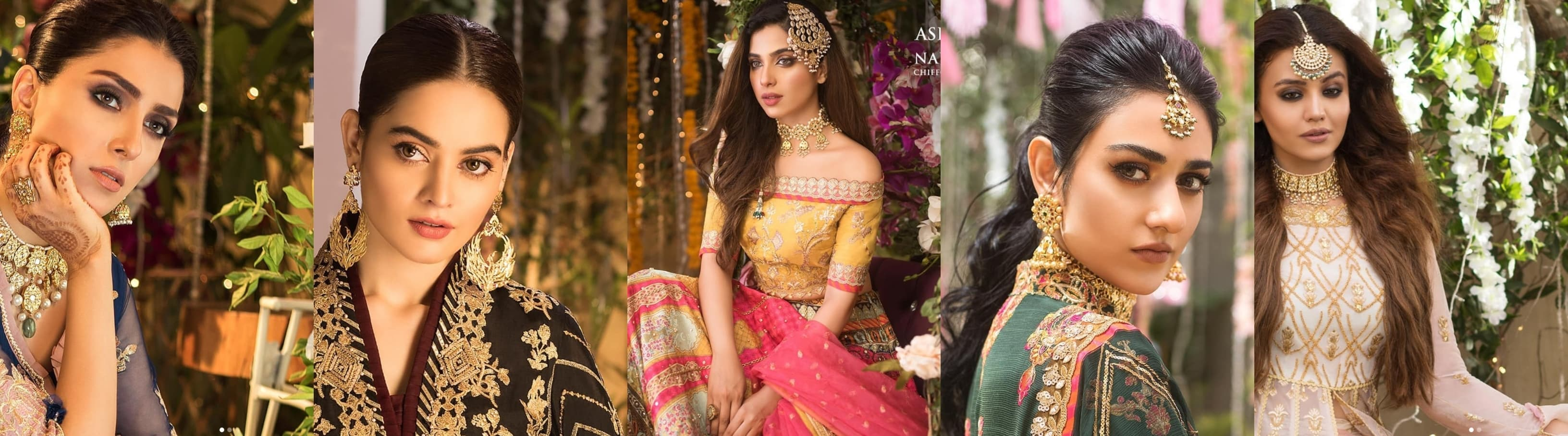 Asim Jofa's all-out extravagant shoot for his unstitched 'Naubahar' line featuring 10 top-tier actresses.