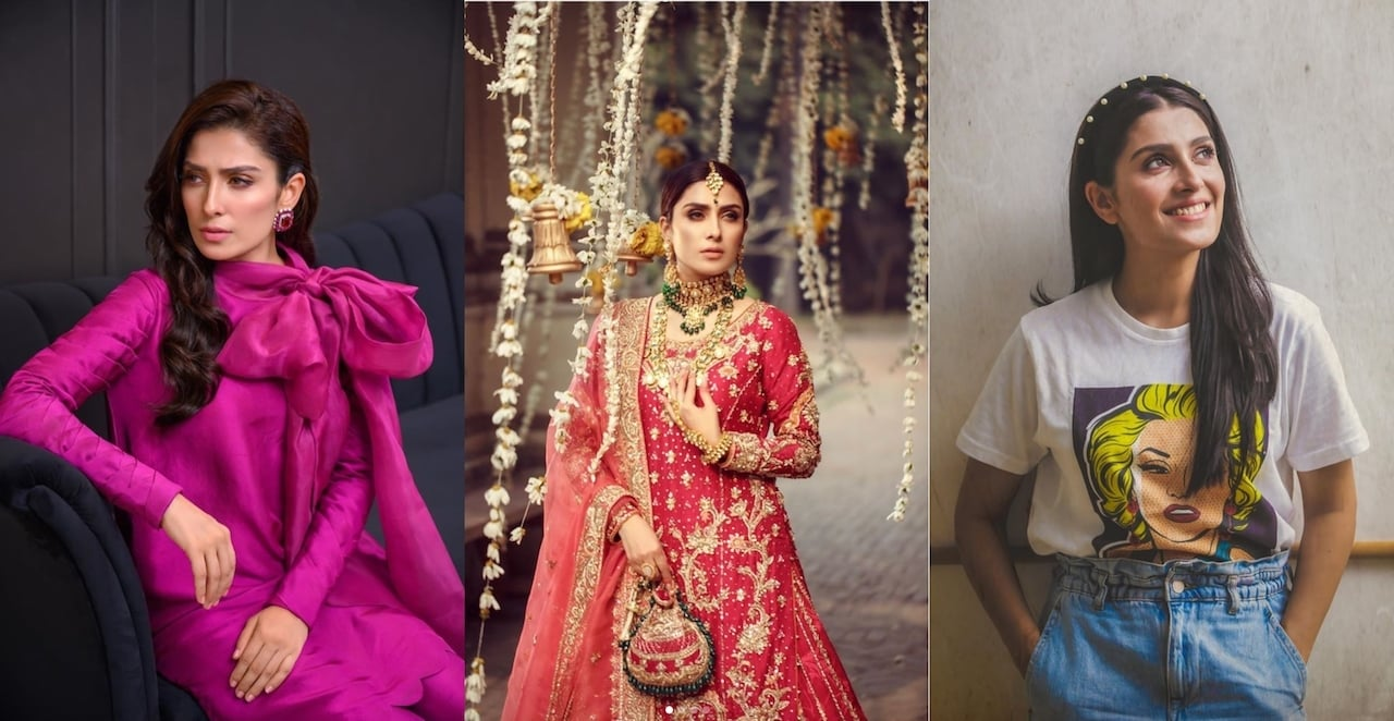 Ayeza Khan models for @sararohaleasgharofficial, @wardaqutubkhanofficial and @republic.outfits