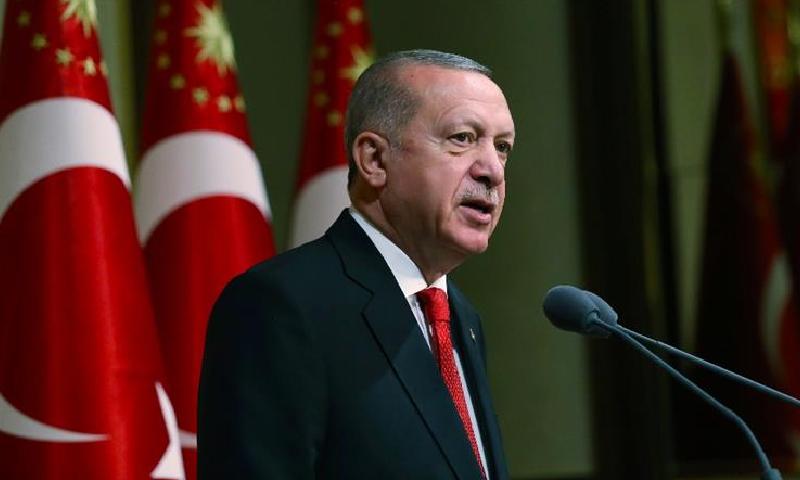 طیب اردوان نے کہا کہ ترکی بدستور جی این اے حکومت کی حمایت کرے گا—فوٹو: اے پی