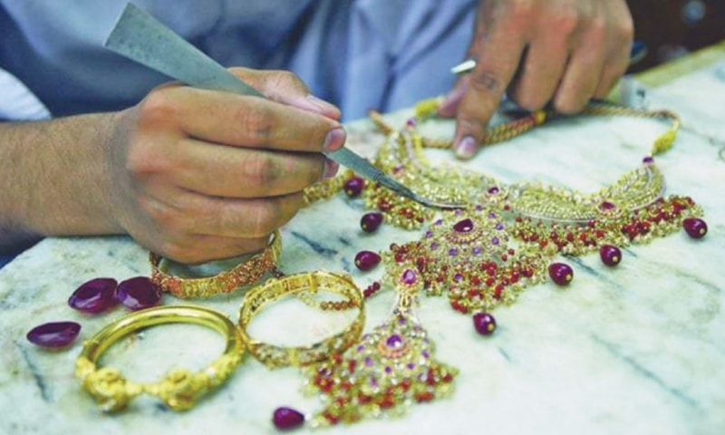 Jewellery dealers witness low sales due to surging gold prices.