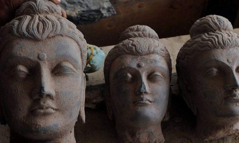 KP police have recovered pieces of the broken statue. — AFP/File