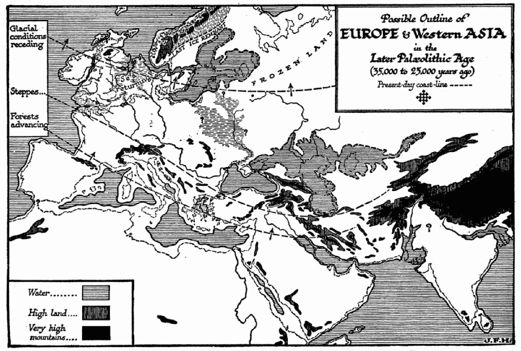 25 ہزار برس قبل مغربی ایشیا