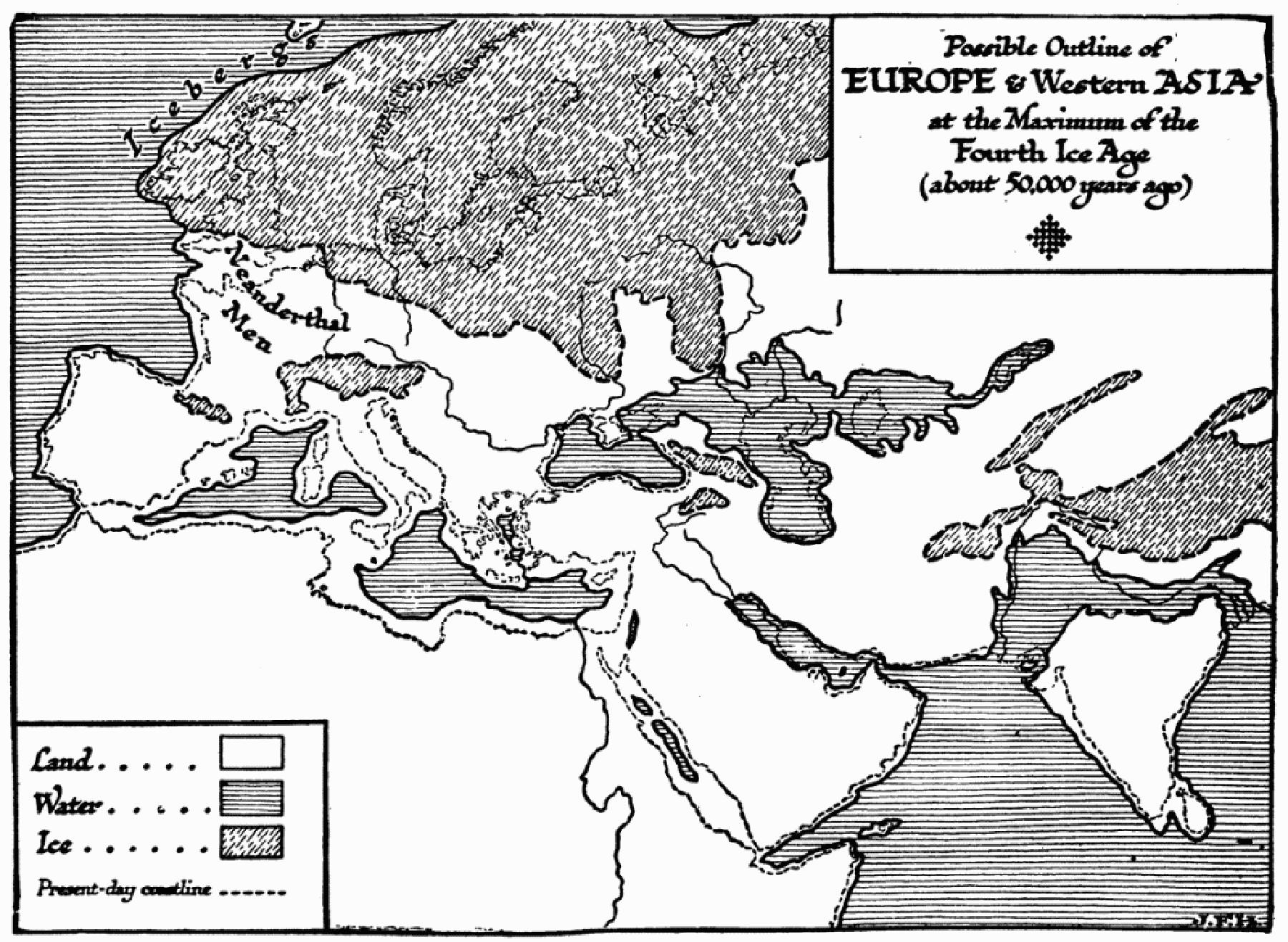 50 ہزار برس قبل کا جغرافیائی حالات