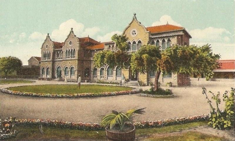 1850ء کی دہائی کے آس پاس سول ہسپتال کراچی کی عمارت — برٹش لائبریری آرکائیوز