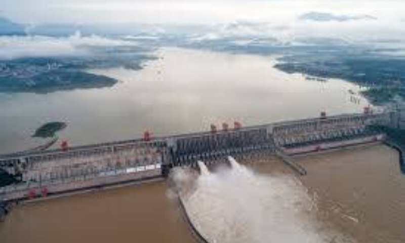 Last week, the gargantuan Three Gorges Dam on the Yangtze opened three floodgates as the water level behind the massive dam rose more than 15 metres above flood level. — AP