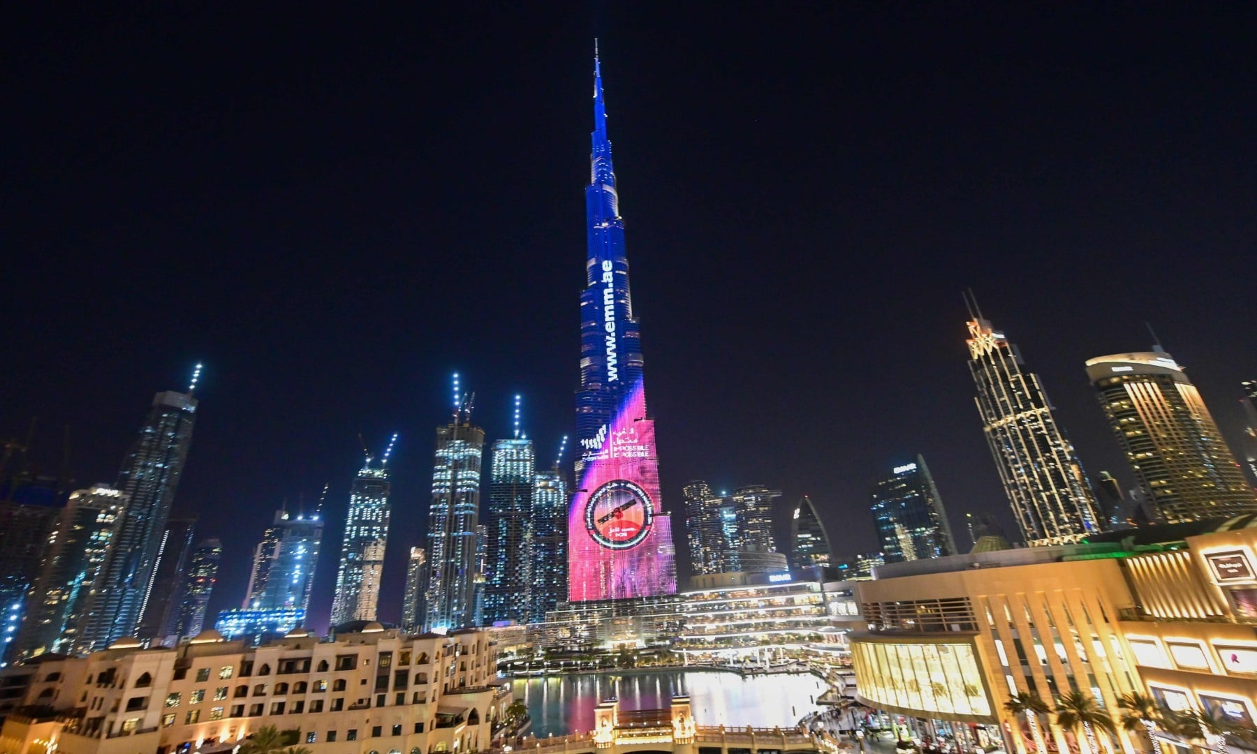"A picture taken on July 19, shows Dubai's Burj Khalifa lit up in support of the United Arab Emirates ""Hope"" Mars probe, ahead of it's expected launch from Japan. — AFP"