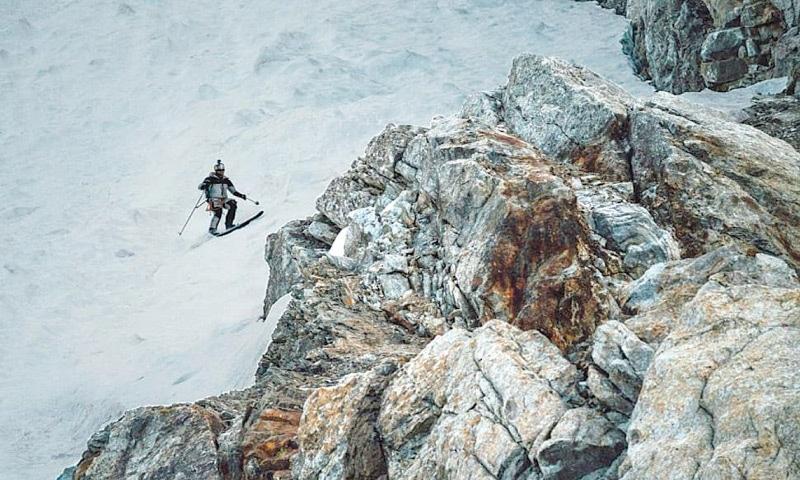 ANDRZEJ Bargiel skis down K2. — Red Bull Content Pool