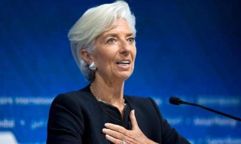 Christine Lagarde, who is the ECB's first female president, singled out German Chancellor Angela Merkel for praise. — AP