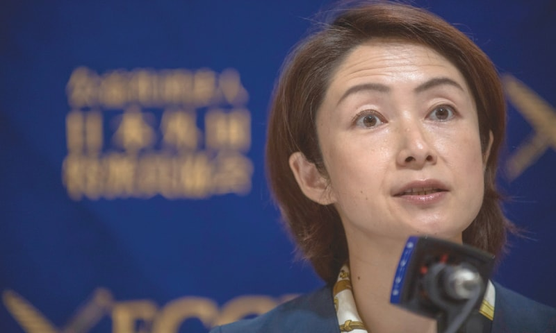 KANAE Doi, Japan director at Human Rights Watch, speaks during a press conference at the Foreign  Correspondents' Club of Japan in Tokyo on Wednesday.—AFP