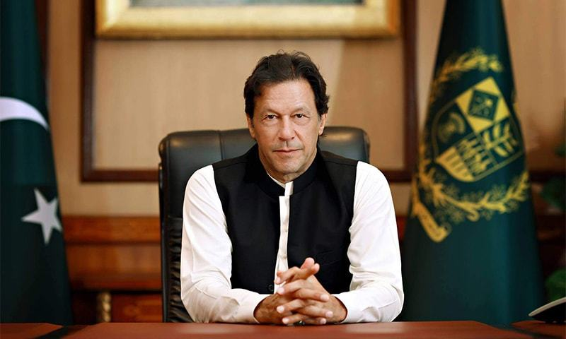 PM Imran Khan asks for improving internet facility in backward areas. — Photo by Irfan Ahson/File