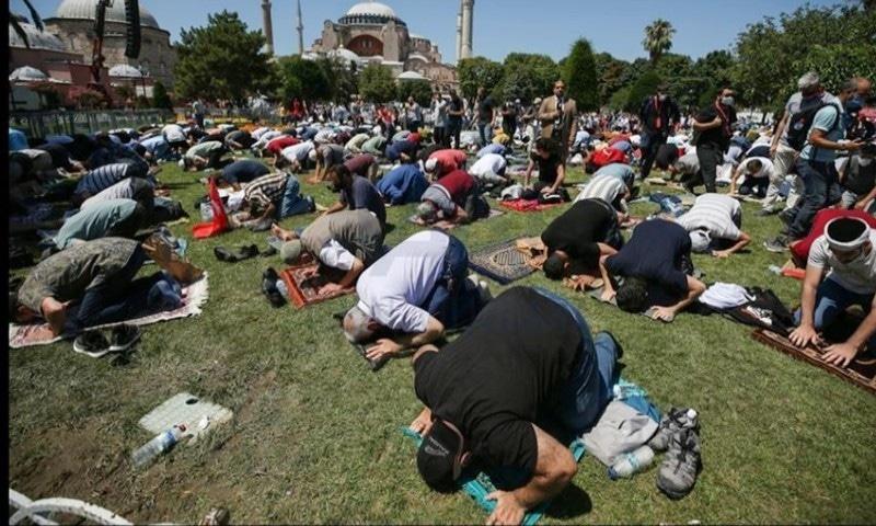 ترکی: آیا صوفیہ مسجد میں 86 سال بعد نماز ادا