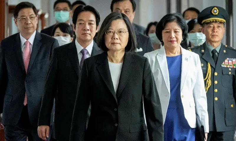 تائیوان کی خاتون صدر سائی اِنگ وین —فوٹو: اے پی