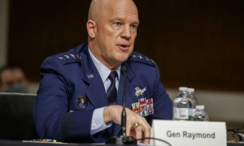 """Space Force's commander, General Jay Raymond reiterated that  """"space is a warfighting domain just like air, land and sea"""". — AFP/File"""